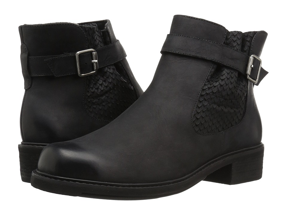Walking Cradles Devin (Black Distressed Leather) Women