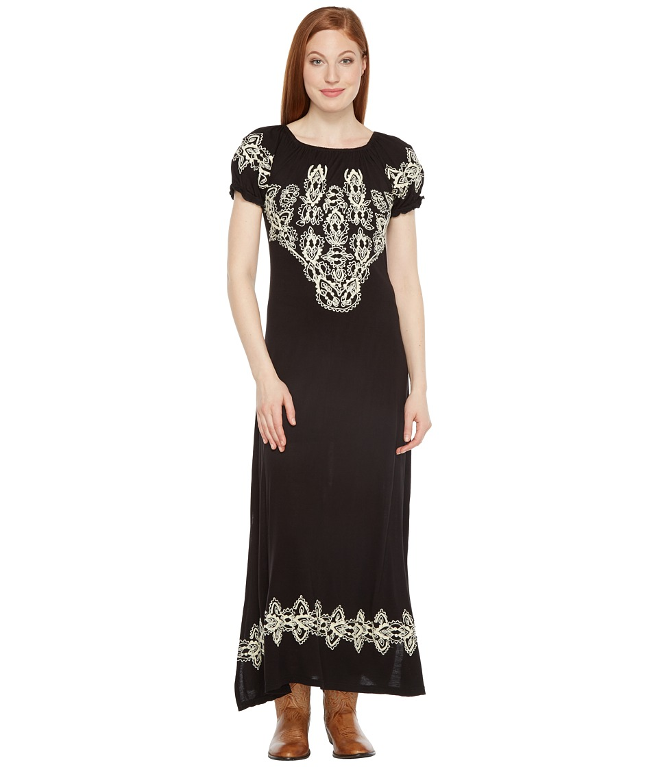 Scully Caprice Maxi Dress with Emboidery (Black) Women