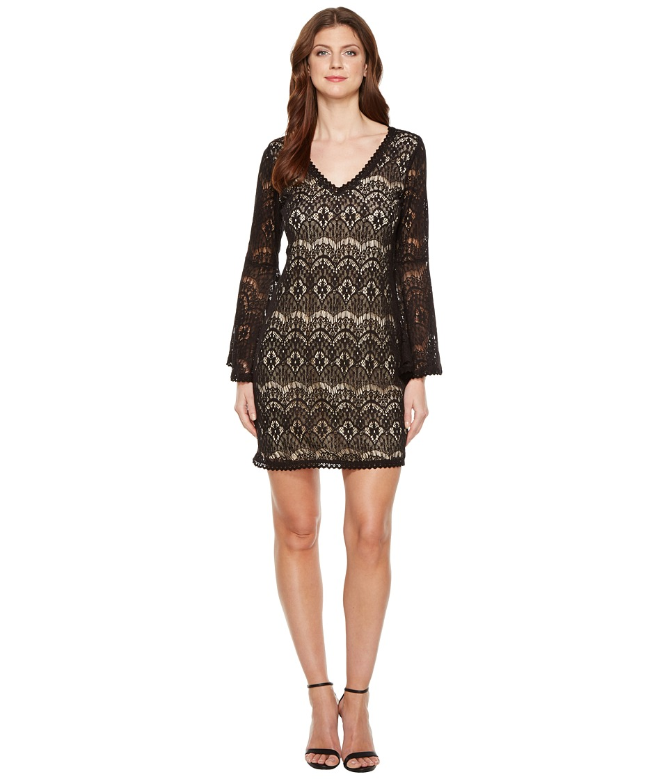 Scully Carey Lace Dress Nude Lining (Black) Women