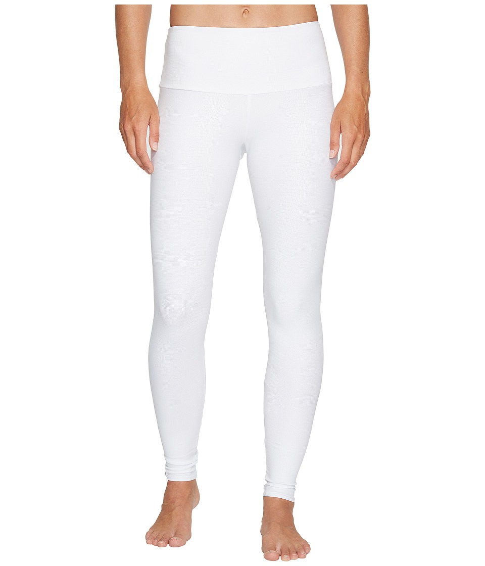 Onzie - High Rise Leggings (White Snake) Women's Casual Pants