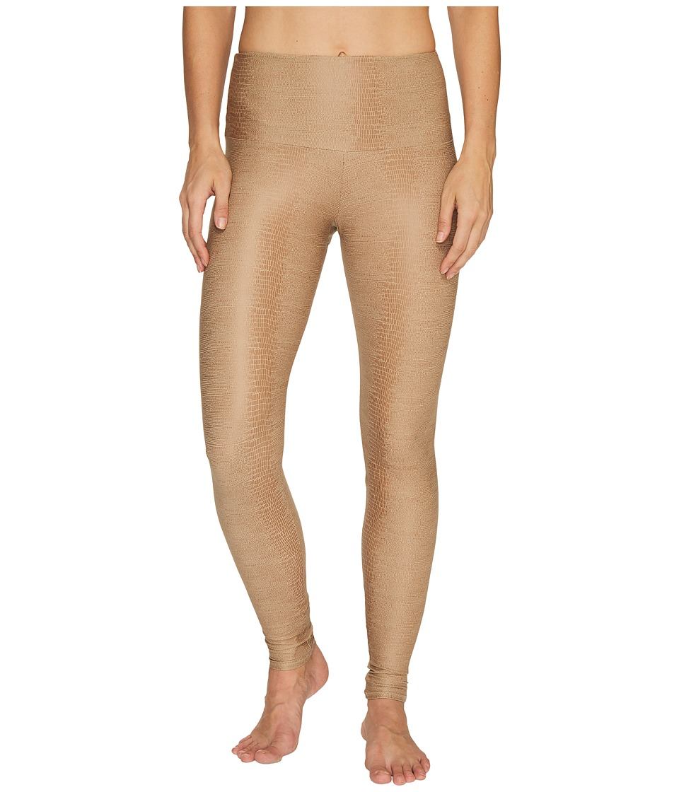 Onzie - High Rise Leggings (Taupe Snake) Women's Casual Pants