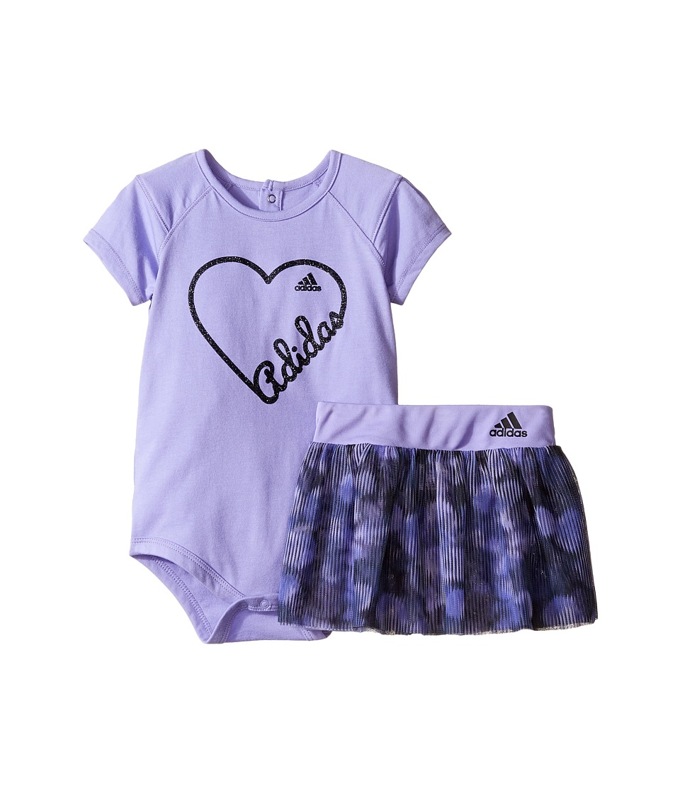 adidas Kids - Love Adidas Bodyshirt Set (Infant) (Light Purple) Girl's Clothing