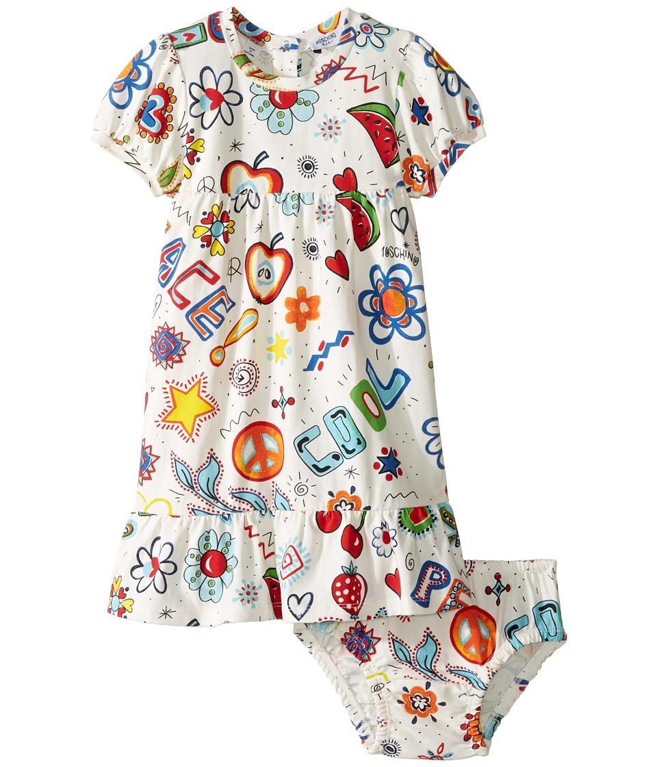 Moschino Kids - All Over Hippy Print Dress Diaper Cover (Infant/Toddler) (Multi) Girl's Dress