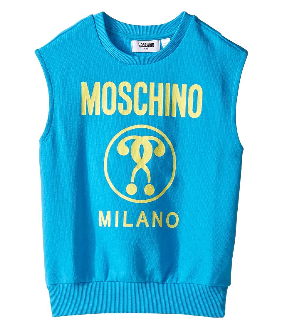 Moschino Kids - Sleeveless Sweat Top w/ Logo on Front (Little Kids/Big Kids) (Holiday) Boy's Sleeveless