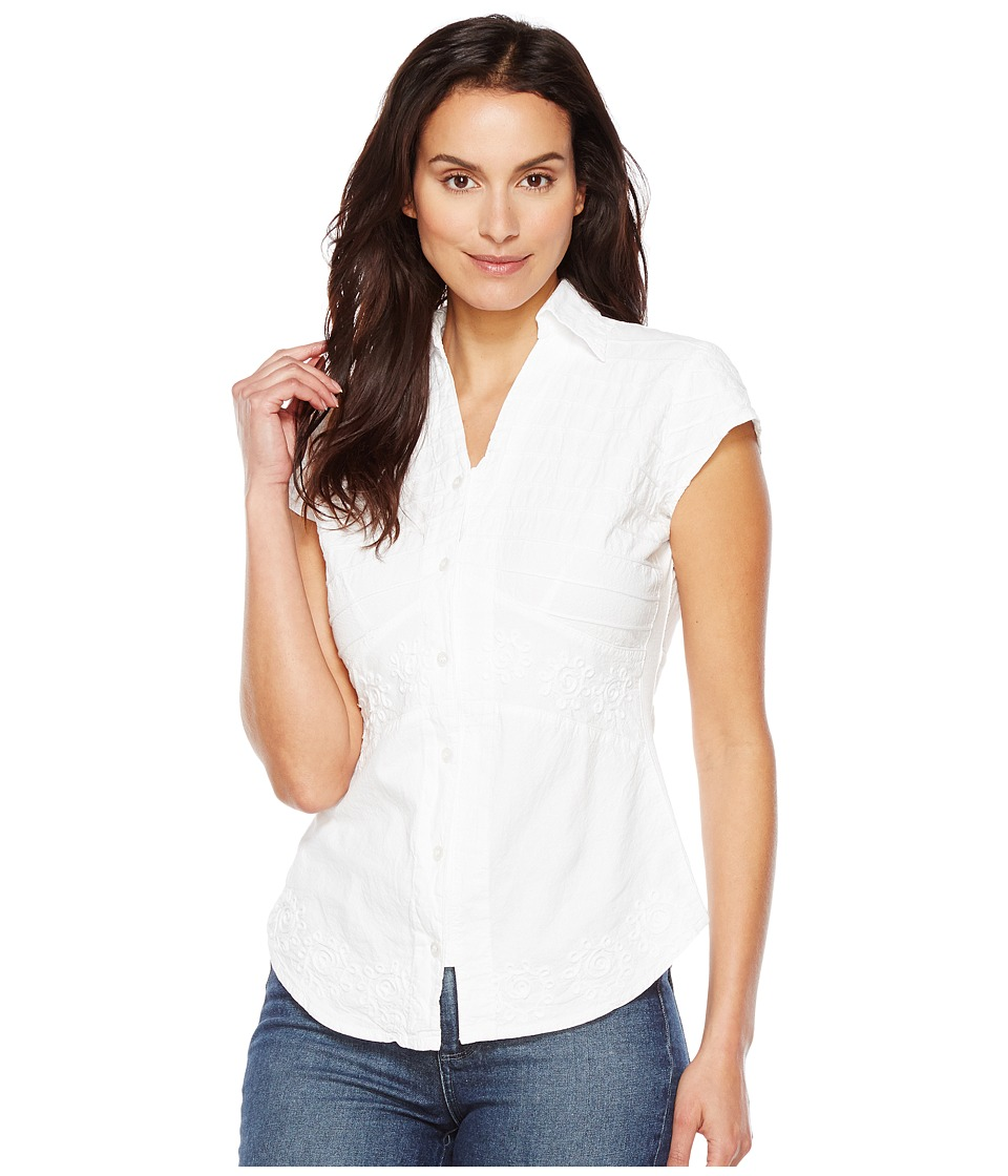 Scully - Cantina Elaina Cap Sleeve Top (White) Women's Clothing