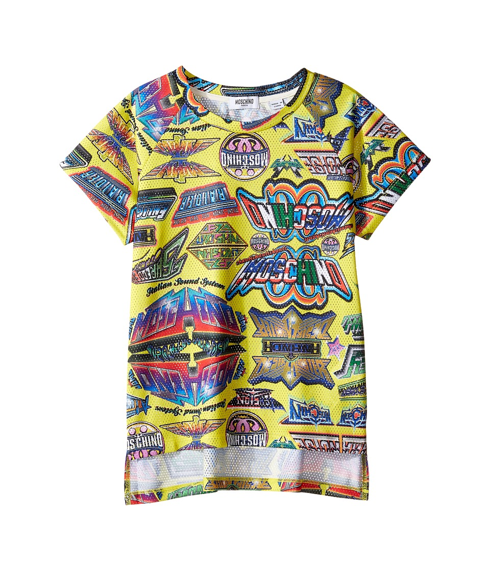 Moschino Kids - Short Sleeve All Over Logo Graphic T-Shirt (Big Kids) (Multi) Boy's T Shirt