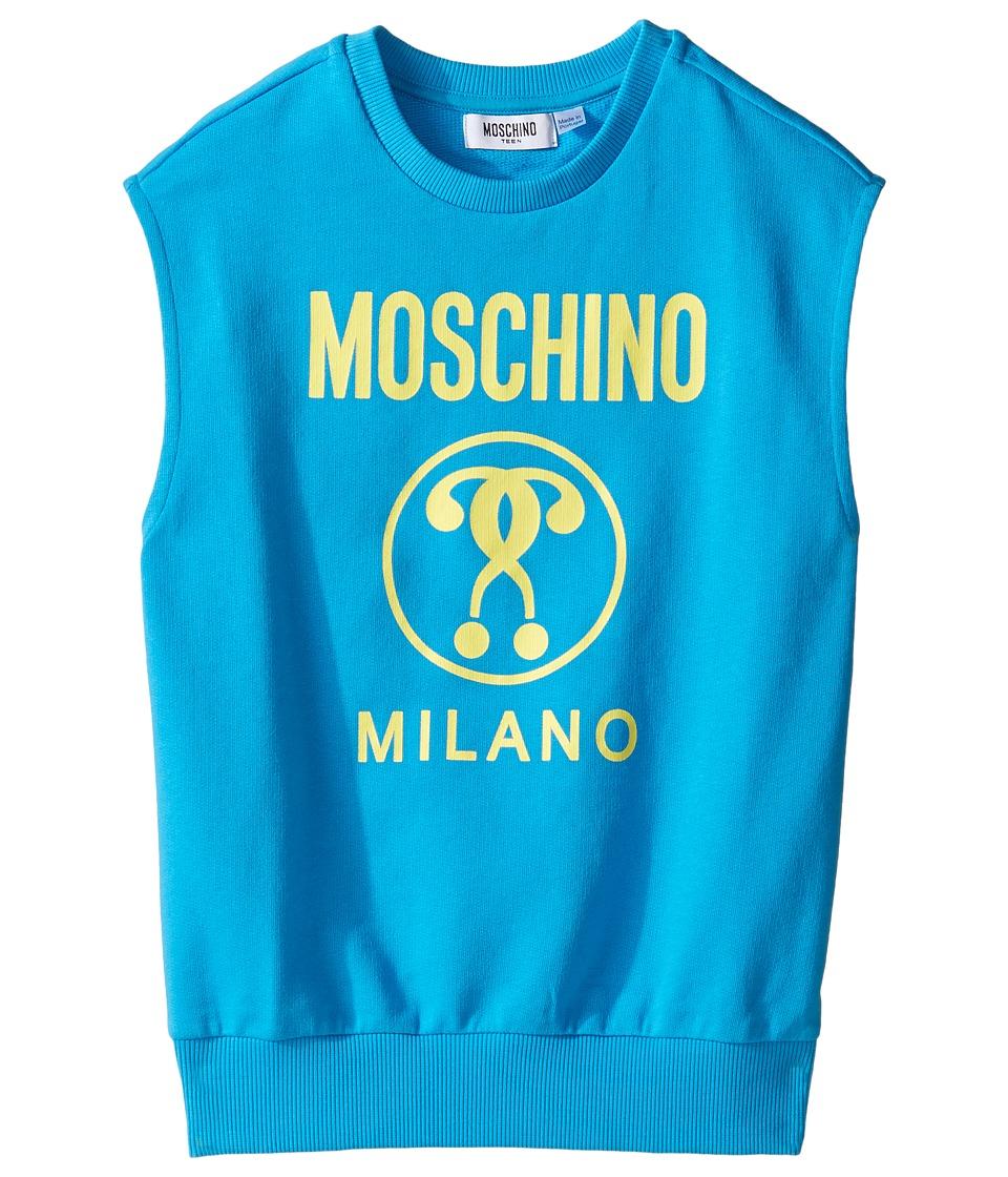 Moschino Kids - Sleeveless Sweat Top w/ Logo on Front (Big Kids) (Holiday) Boy's Sleeveless