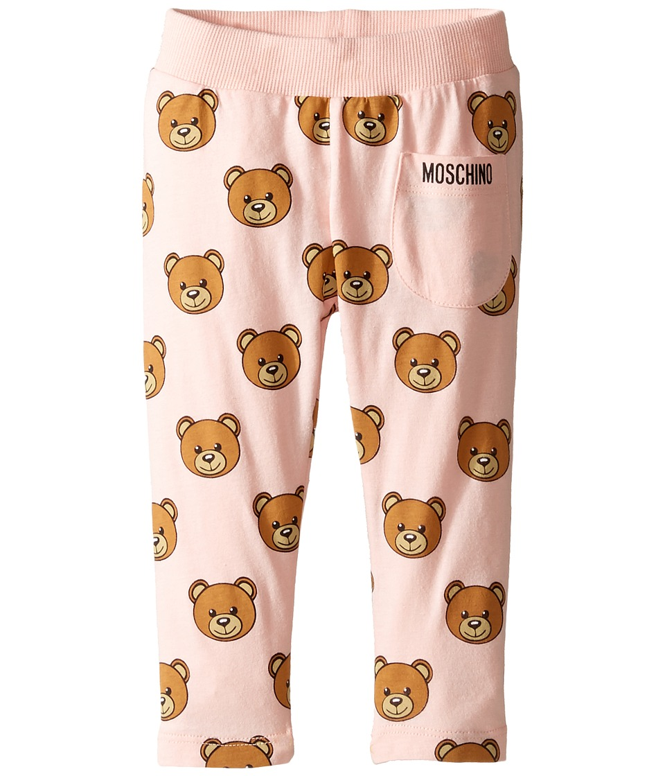 Moschino Kids - All Over Teddy Bear Print Pants (Infant/Toddler) (Rose Bloom) Girl's Casual Pants