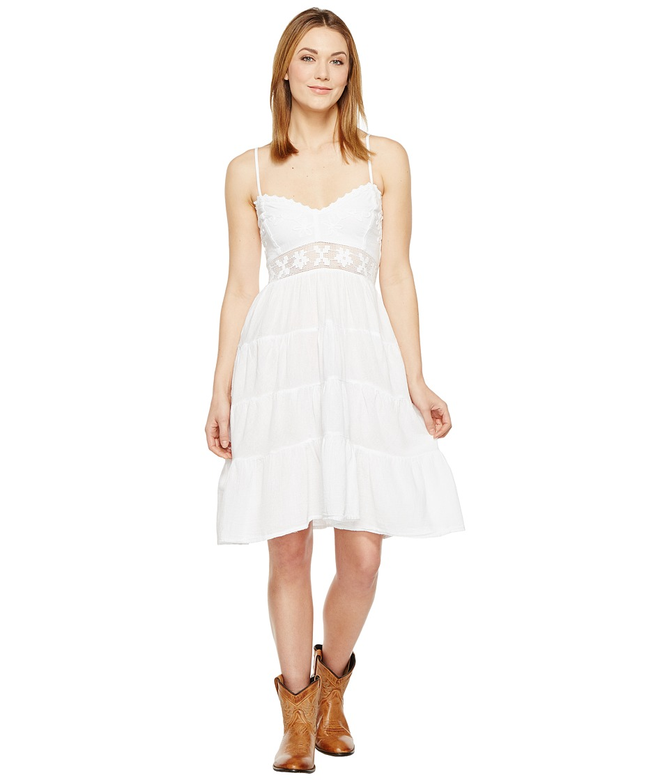 Scully - Cantina Angelina Spaghetti Strap Dress (White) Women's Dress