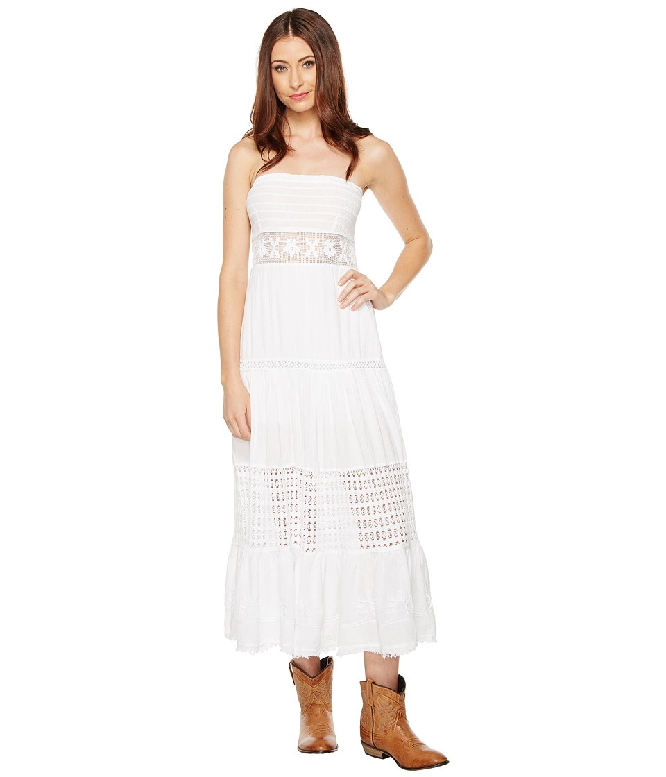 Scully Cantina Party Time Tube Dress (White) Women