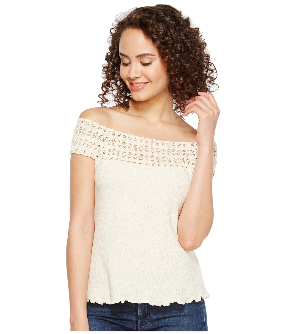 Scully - Cantina Talia Organic Cotton Off the Shoulder Top (Natural) Women's Clothing