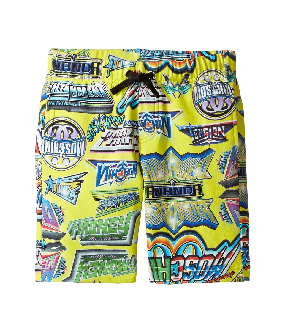 Moschino Kids - All Over Logo Print Shorts (Little Kids/Big Kids) (Multi) Boy's Shorts