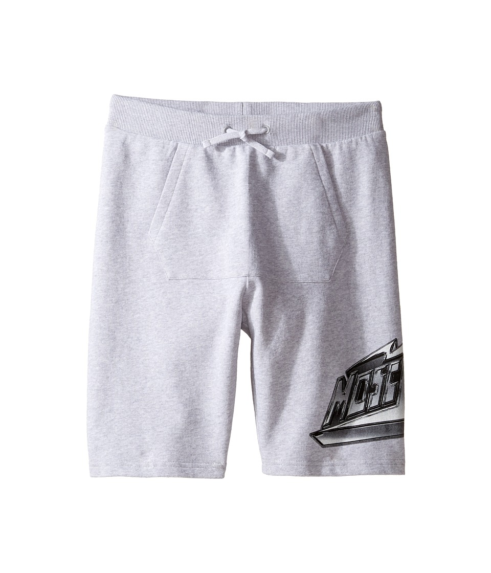 Moschino Kids - Sweatshorts w/ Front Pocket Logo Detail (Big Kids) (Grey) Boy's Shorts