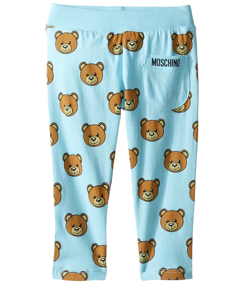 Moschino Kids - All Over Teddy Bear Print Pants (Infant) (Light Blue) Boy's Casual Pants