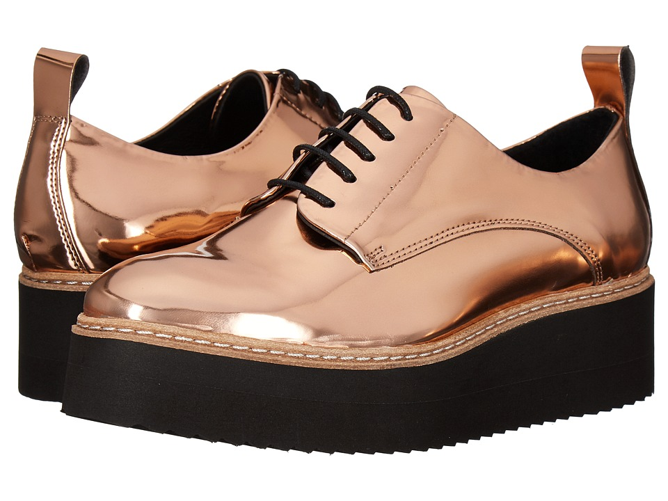Shellys London Teivis Platform Oxford (Rose Gold) Women