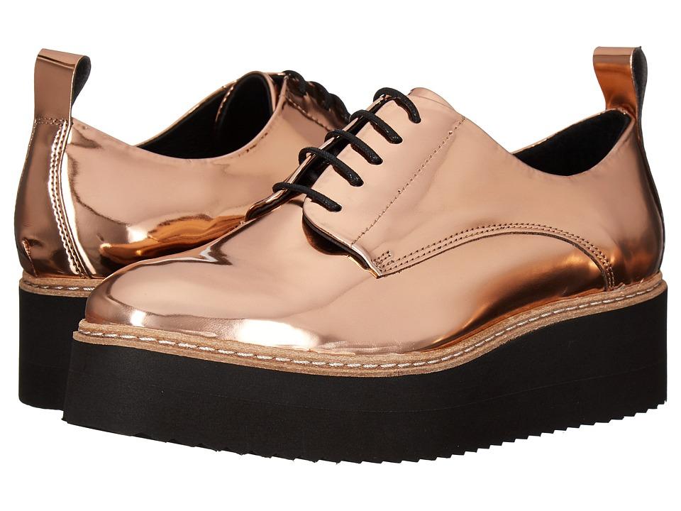 Shellys London - Teivis Platform Oxford (Rose Gold) Women's Shoes