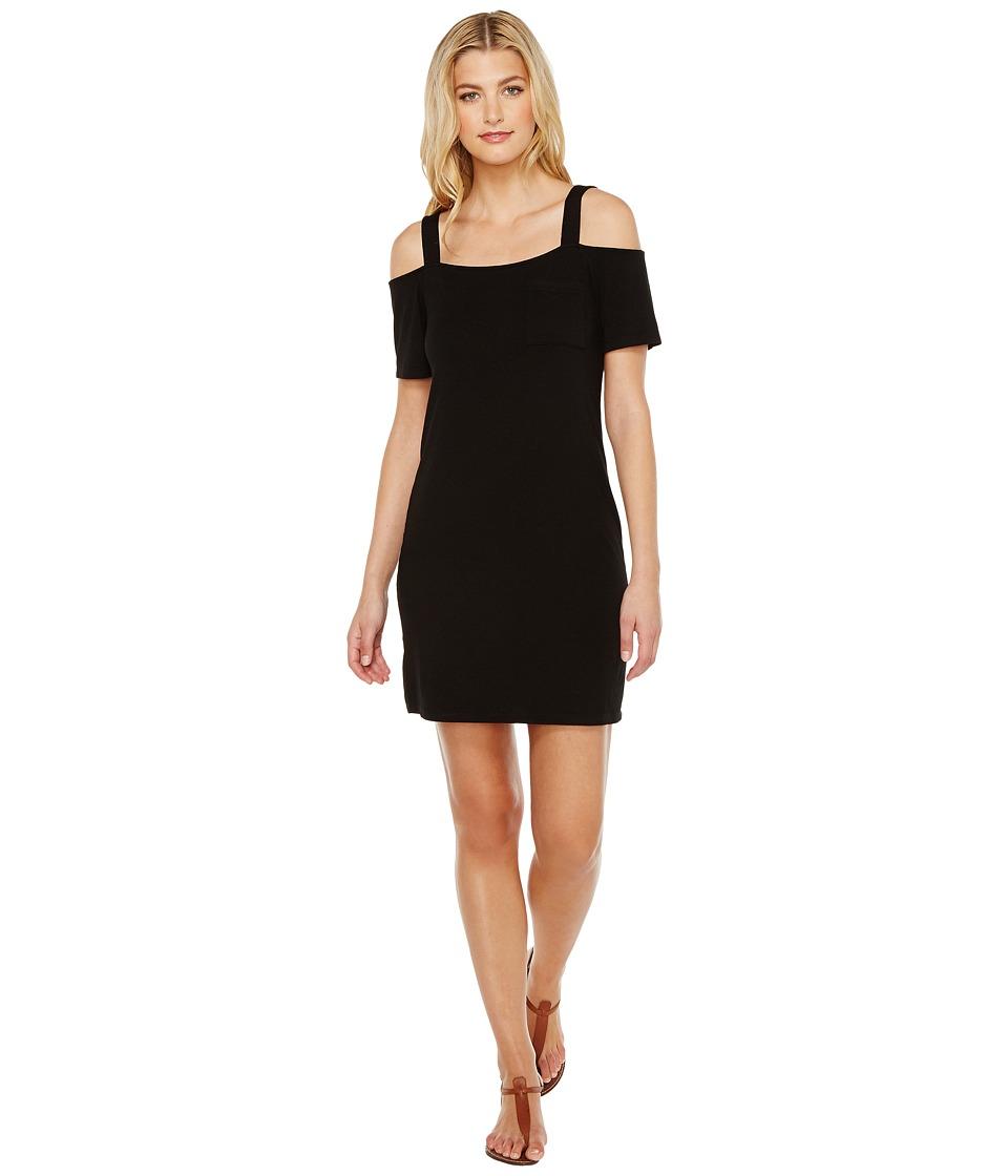 Splendid - Cold Shoulder Tee Dress (Black) Women's Dress