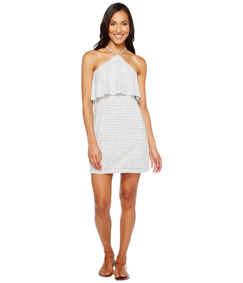 Splendid - Halter Dress (White/Navy) Women's Dress