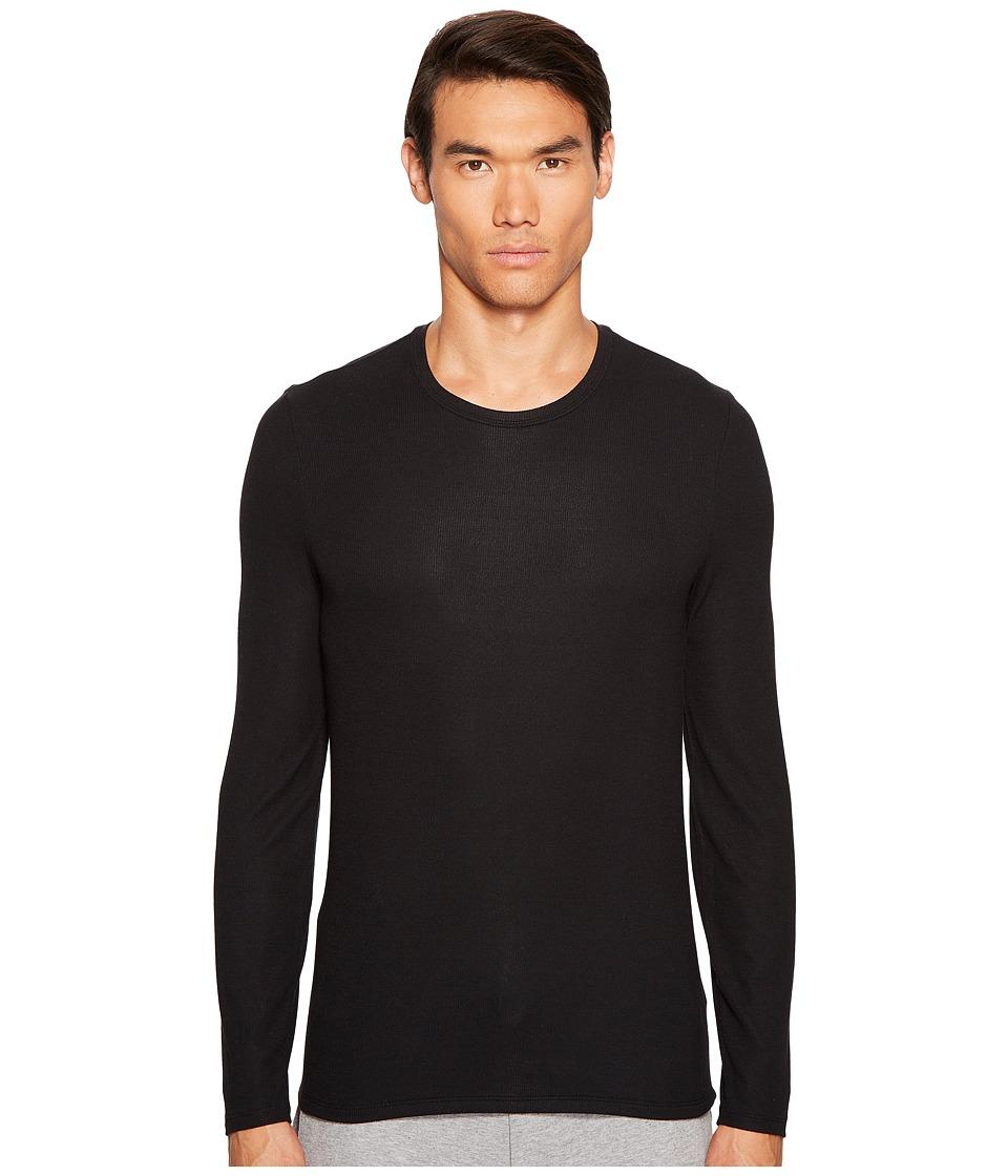 ATM Anthony Thomas Melillo - Modal Rib Long Sleeve Crew (Black) Men's Long Sleeve Pullover
