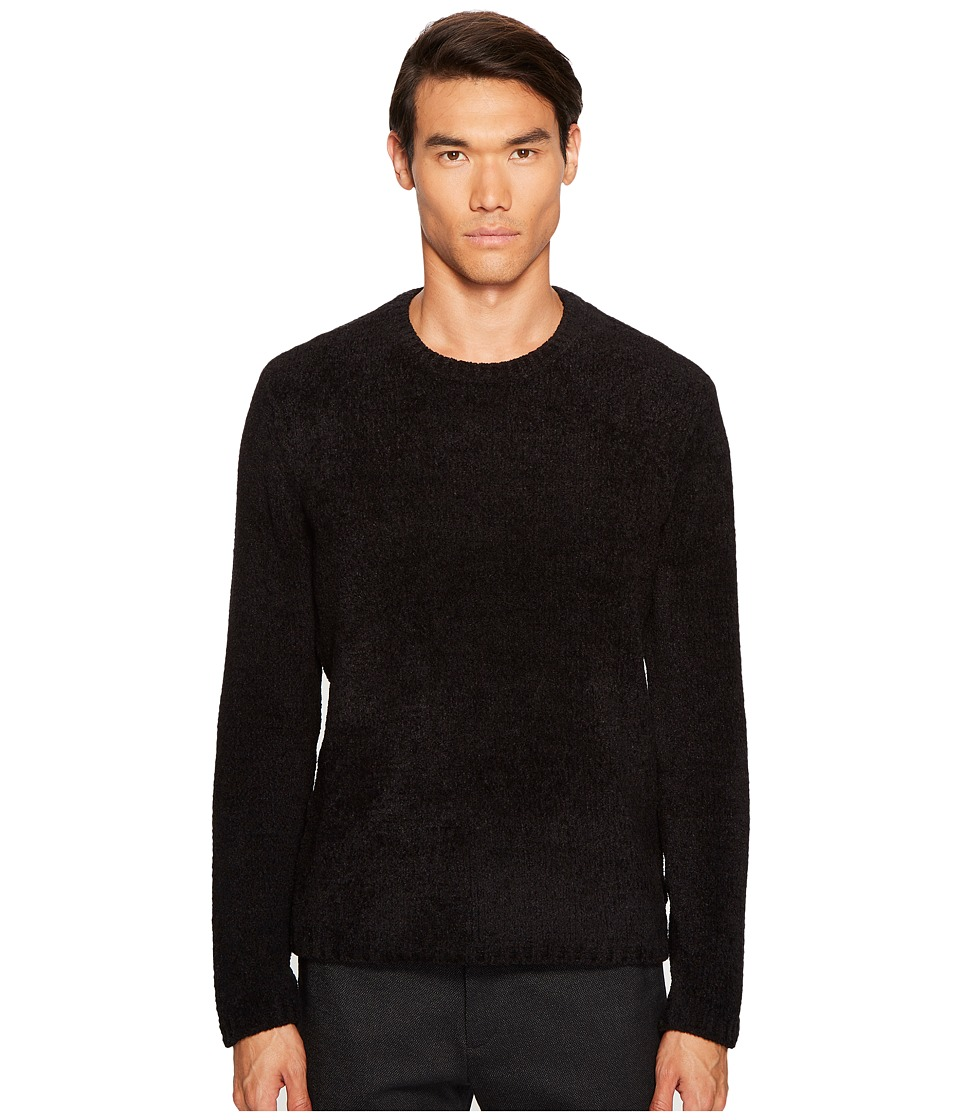 Image of ATM Anthony Thomas Melillo - Chenille Crew Neck Sweater (Black) Men's Sweater