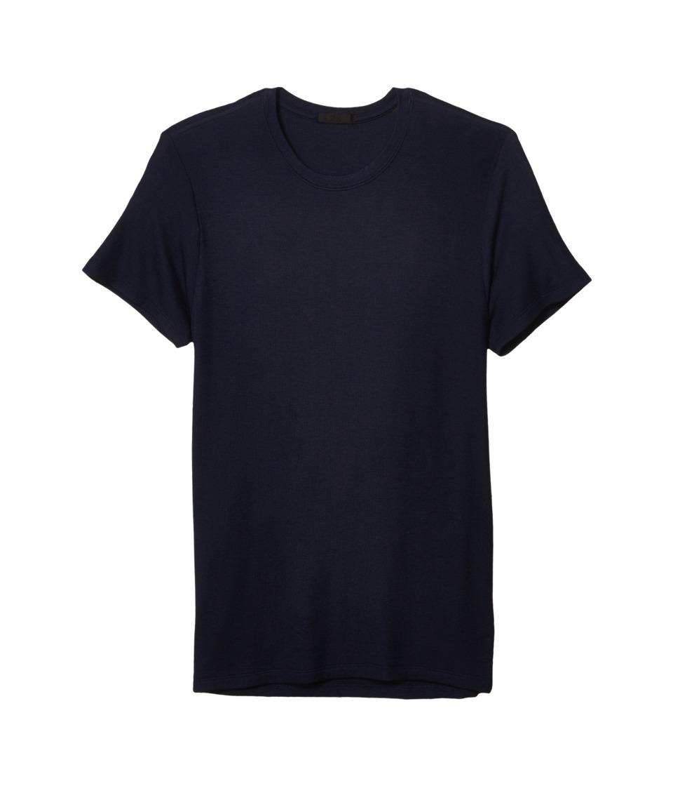 ATM Anthony Thomas Melillo - Micromodal Rib Short Sleeve Crew (Midnight) Men's T Shirt
