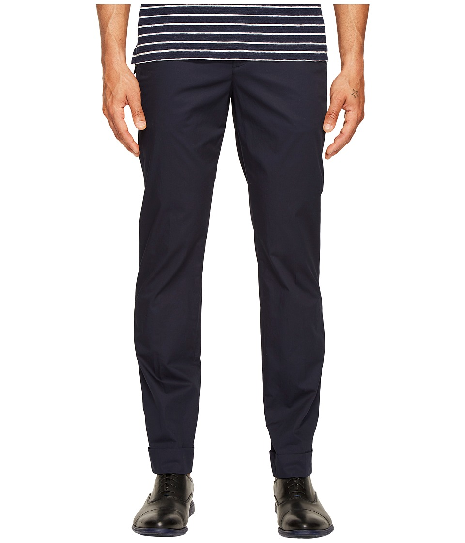 ATM Anthony Thomas Melillo - Cotton Poplin Classic Cuffed Pants (Midnight) Men's Casual Pants