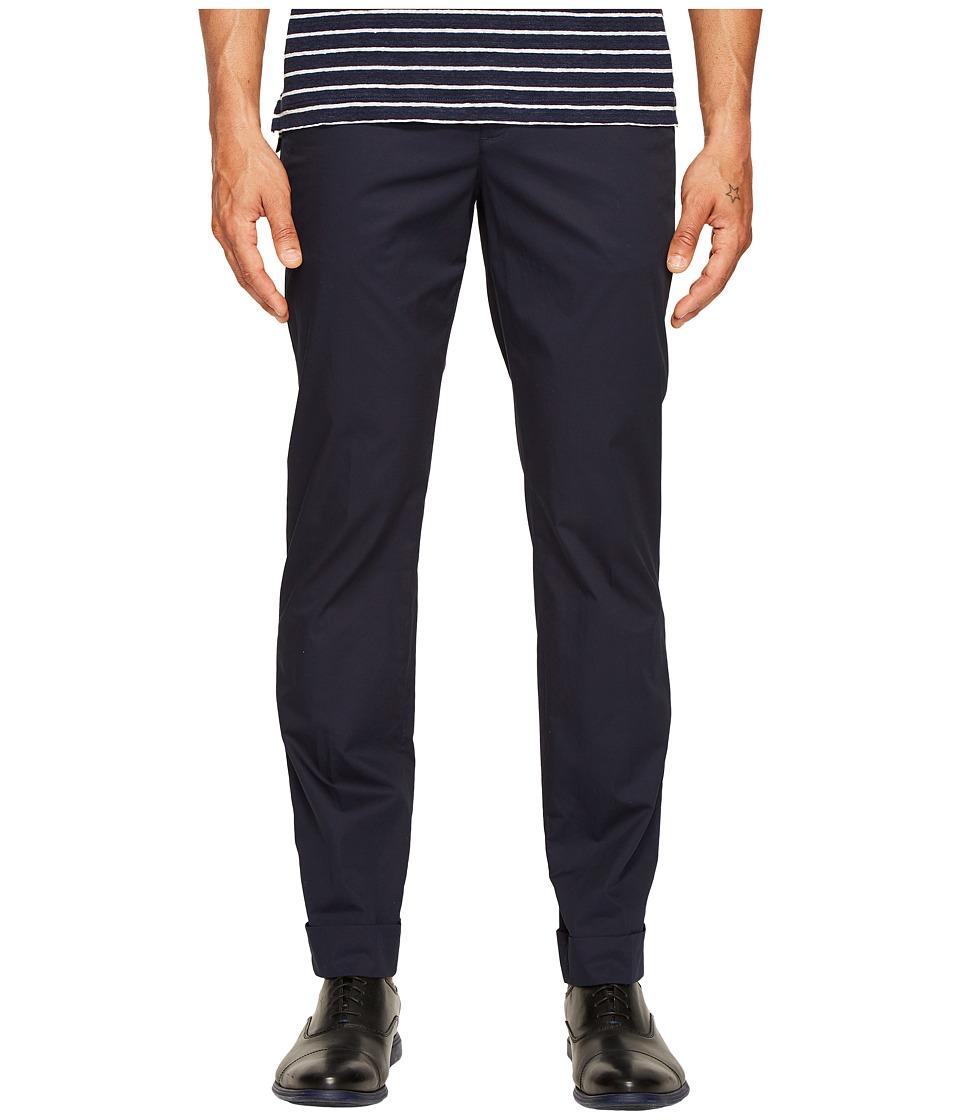 ATM Anthony Thomas Melillo - Cotton Poplin Classic Cuffed Pants (Midnight) Men's Casual Pants
