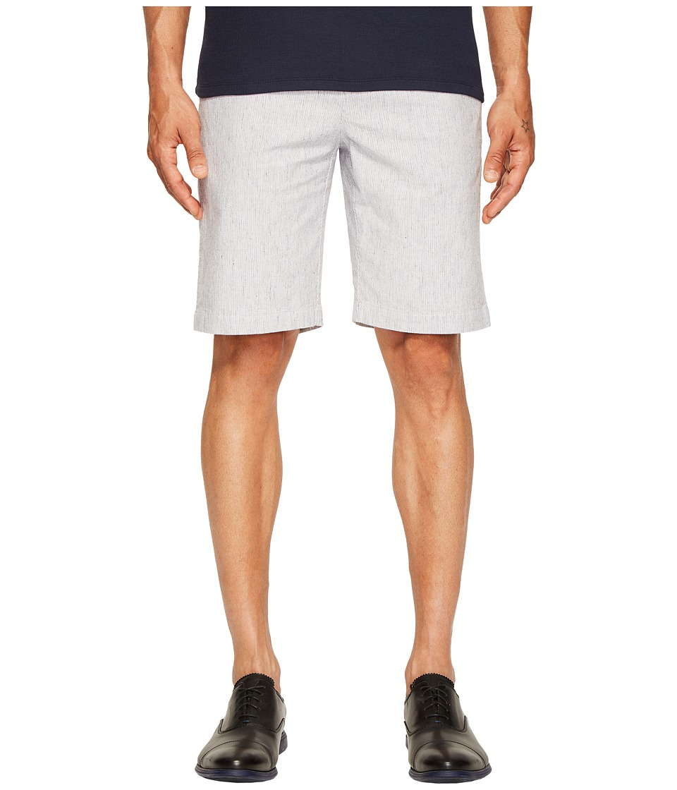 ATM Anthony Thomas Melillo - Seersucker Elastic Waist Shorts (White/Navy Stripe) Men's Shorts