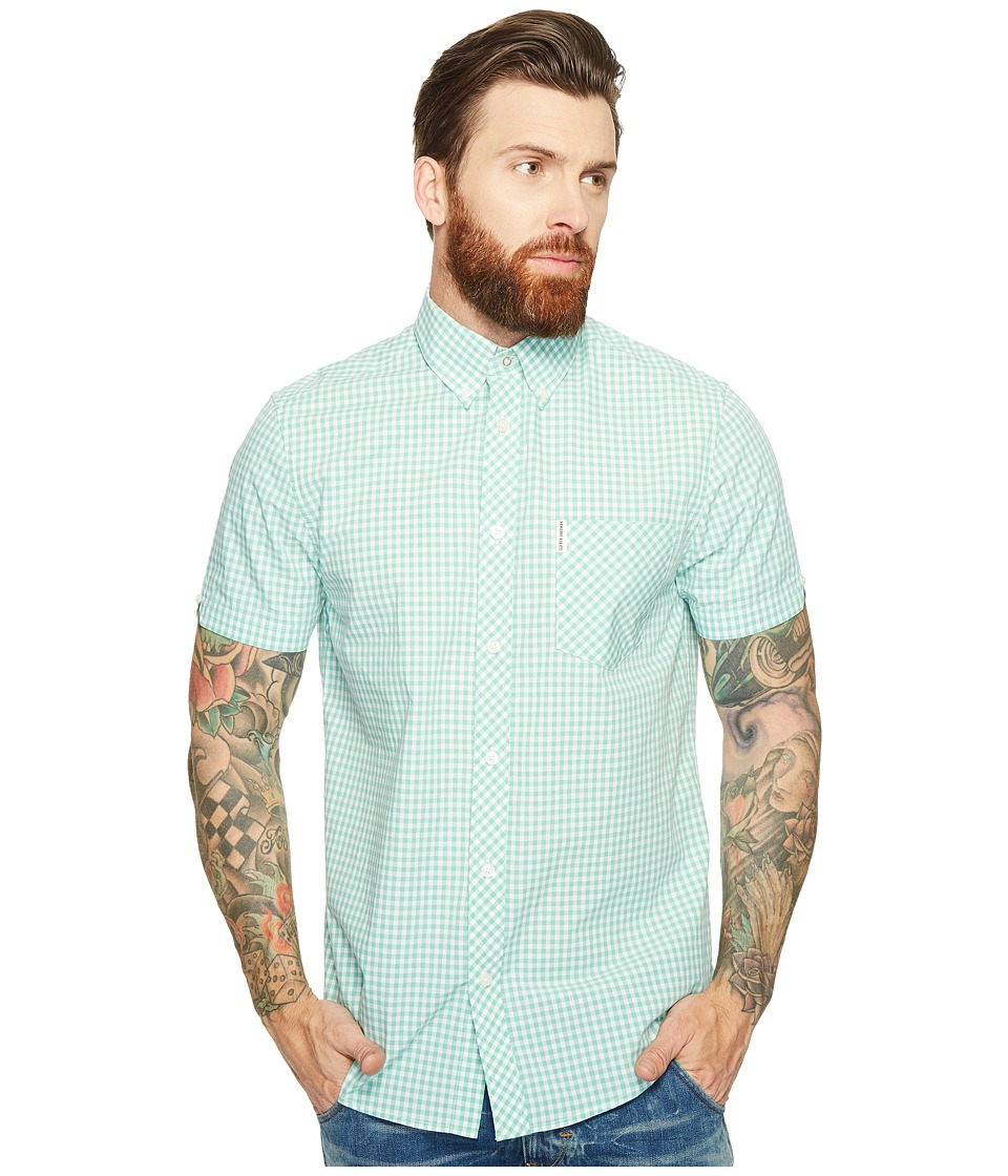 Ben Sherman - Short Sleeve Core Gingham Shirt (Mint) Men's Clothing