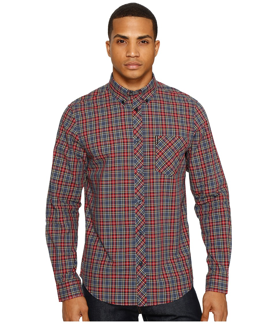 Ben Sherman - Long Sleeve Tartan Shirt (Red) Men's Clothing