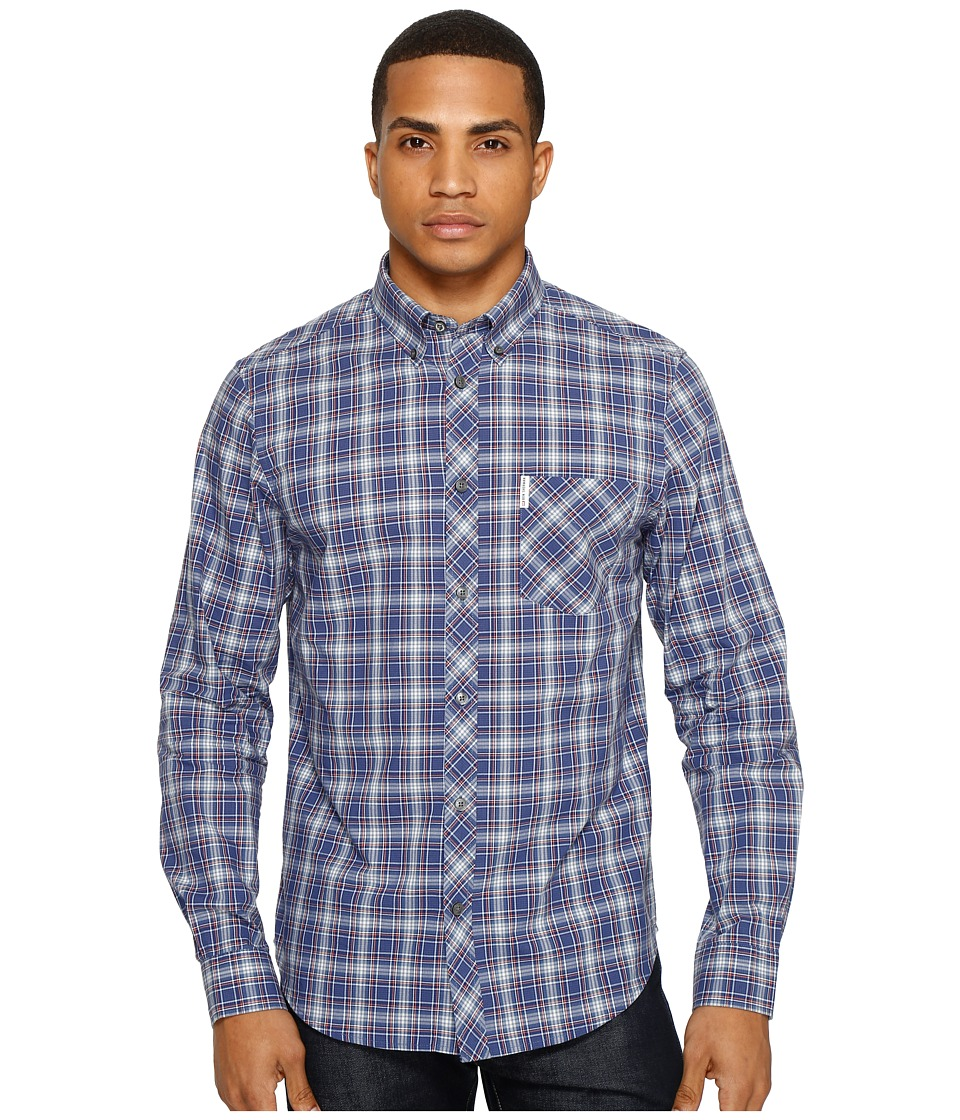 Ben Sherman - Long Sleeve Tartan Shirt (Pigment Blue) Men's Clothing