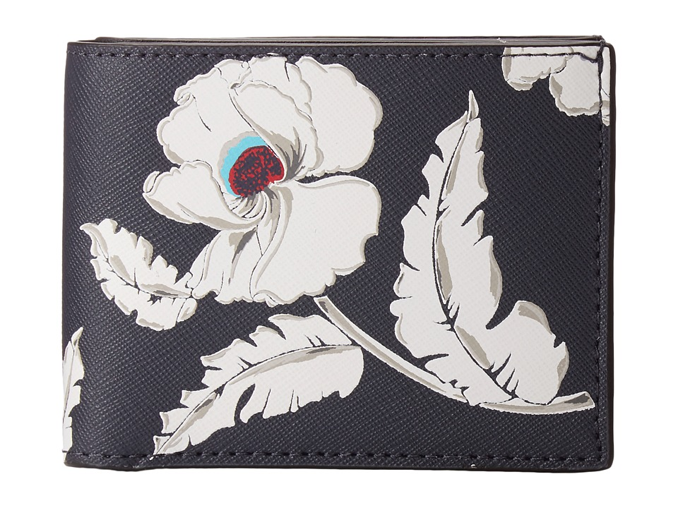 Jack Spade - Poppy Floral Slim Billfold (Navy) Bill-fold Wallet