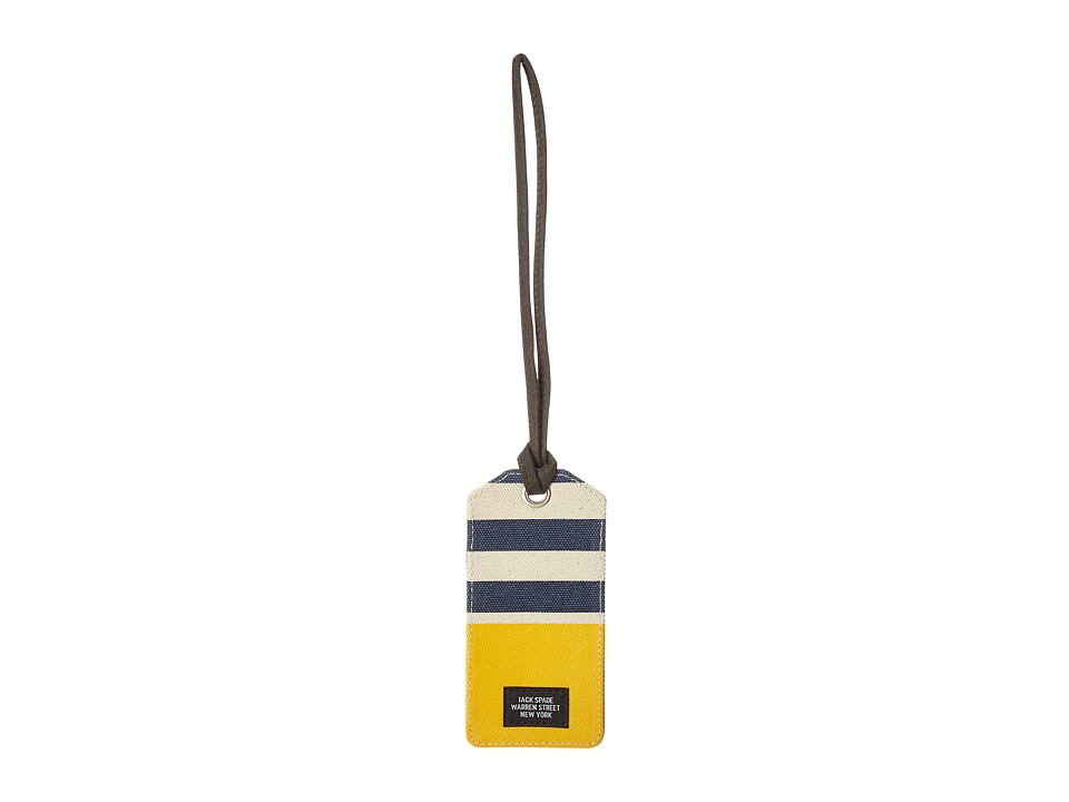 Jack Spade - Striped Dipped Luggage Tag (Natural/Navy/Yellow) Wallet
