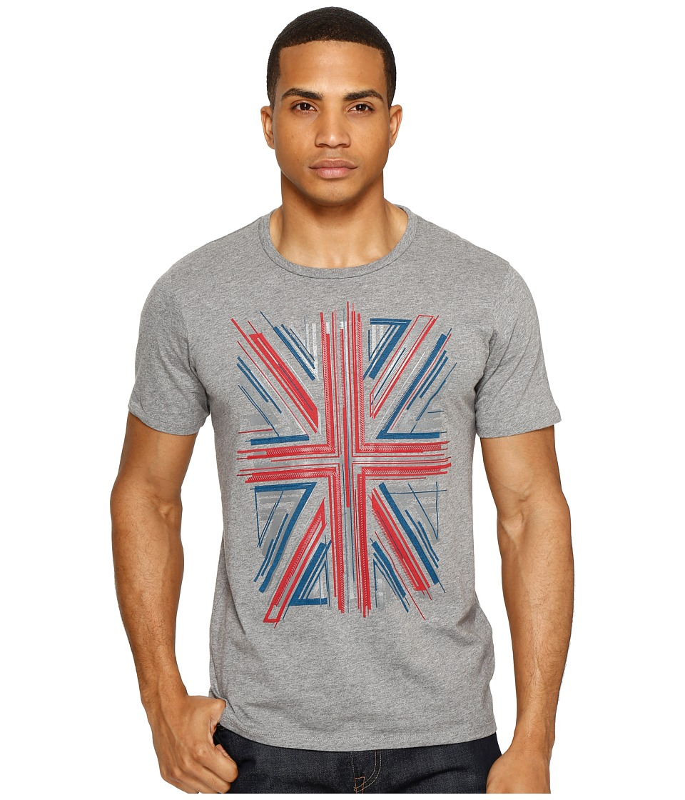Ben Sherman - Union Jack Graphic Tee (Silver Chalice Marl) Men's T Shirt