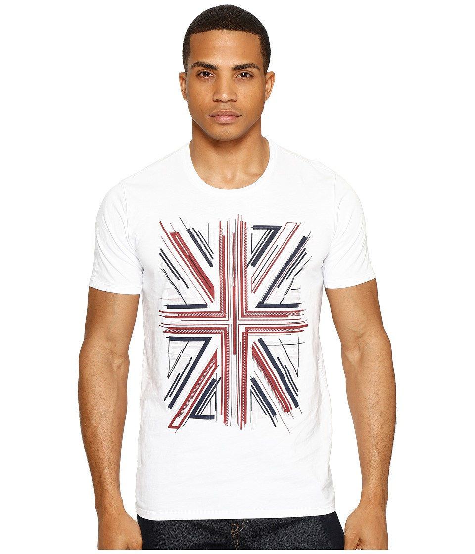 Ben Sherman - Union Jack Graphic Tee (Bright White) Men's T Shirt