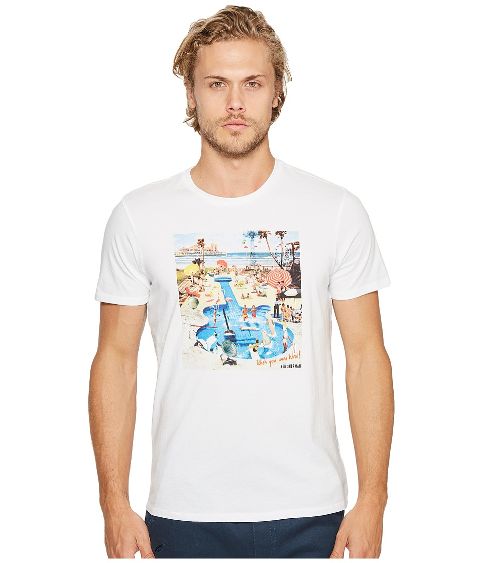Ben Sherman Pool Party Tee (Bright White) Men