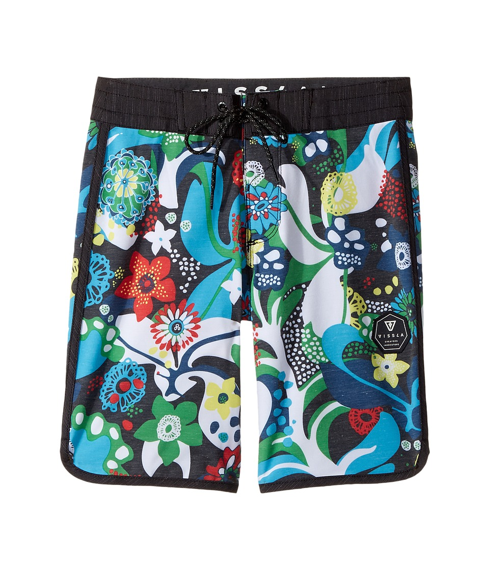 VISSLA Kids Tide Riders Four-Way Stretch Boardshorts 17 (Big Kids) (Black) Boy