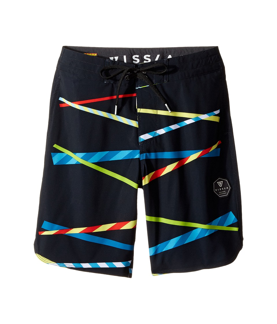 VISSLA Kids - Chopsticks Four-Way Stretch Boardshorts 17 (Big Kids) (Black) Boy's Swimwear