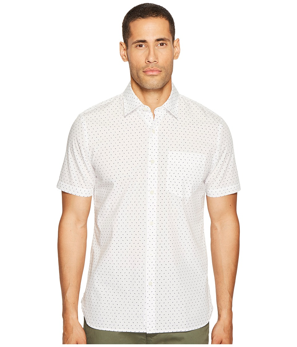 Jack Spade - Short Sleeve UFO Print Shirt (White) Men's Clothing