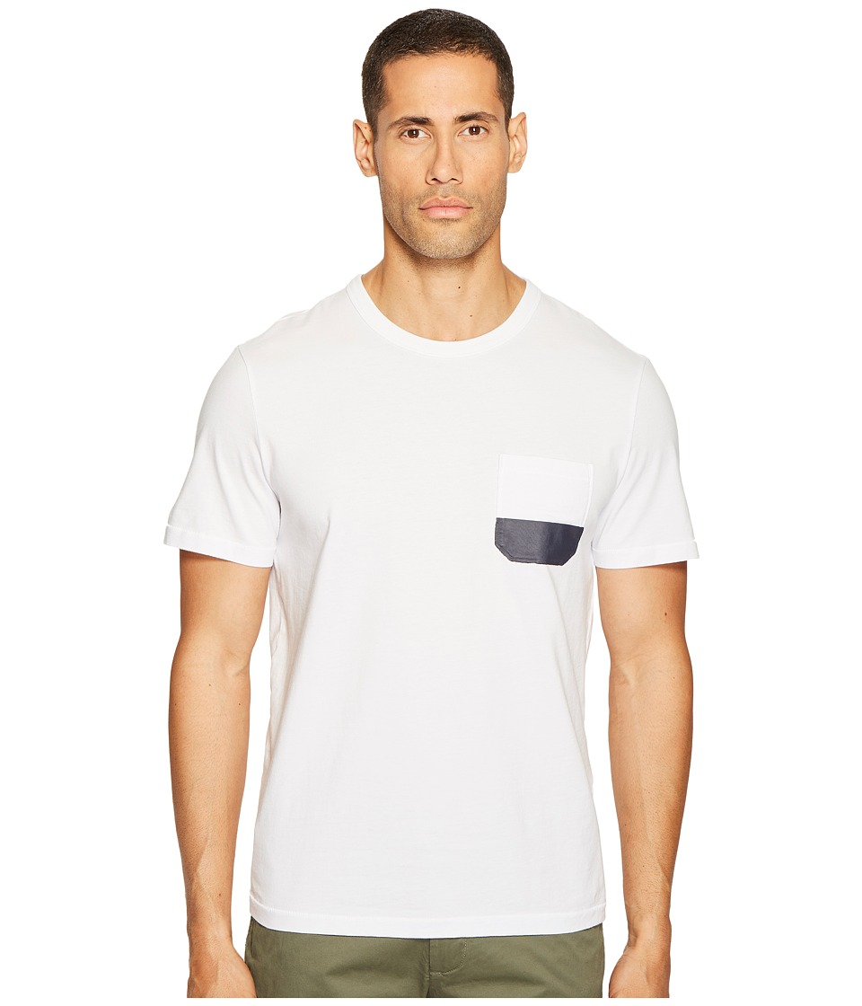 Jack Spade - Dipped Pocket Tee (White) Men's T Shirt