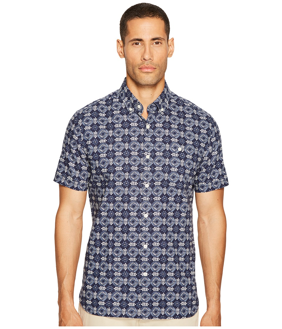 Jack Spade - Flower Tile Print Shirt (Navy) Men's Clothing