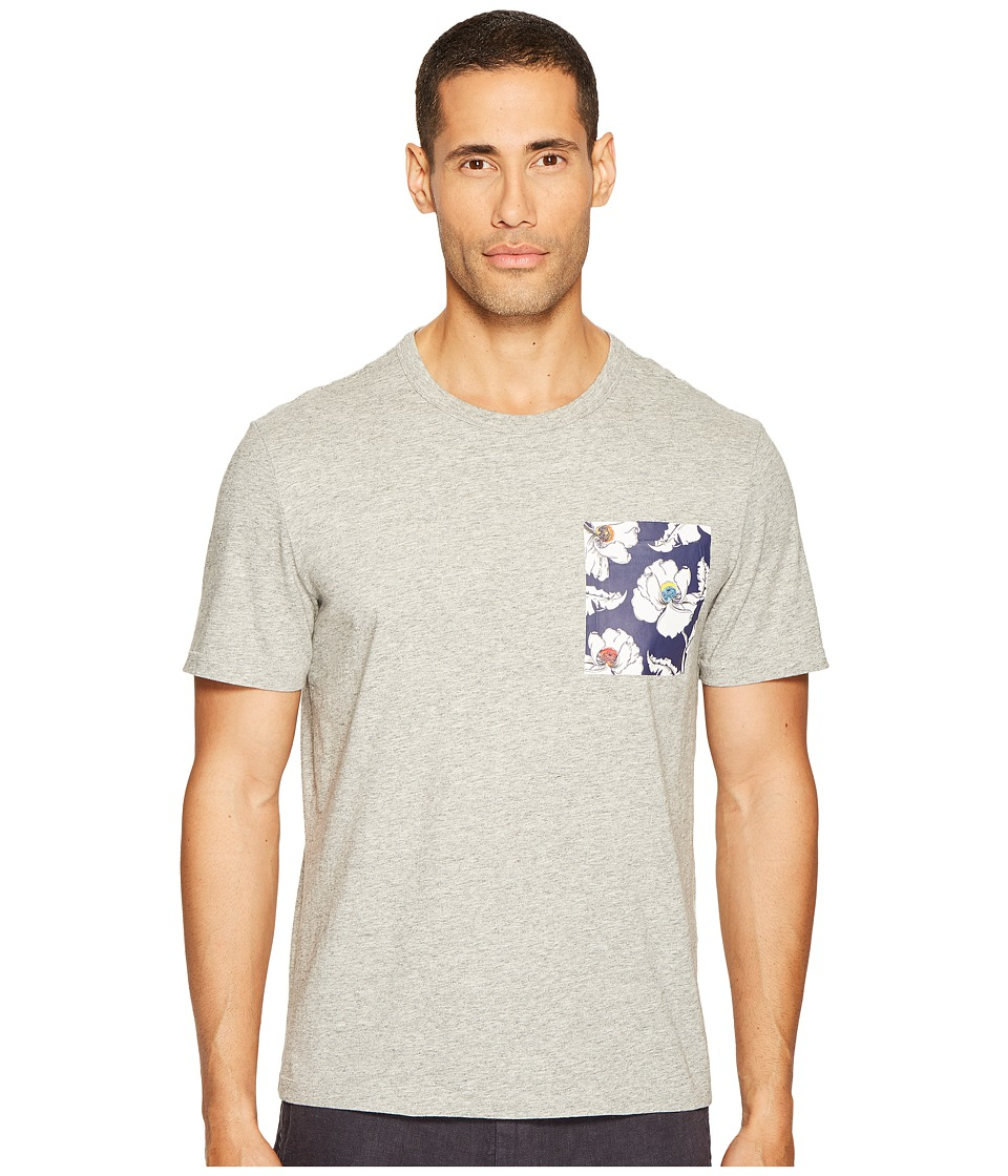 Jack Spade Poppy Flower Pocket Tee (Heather Grey) Men