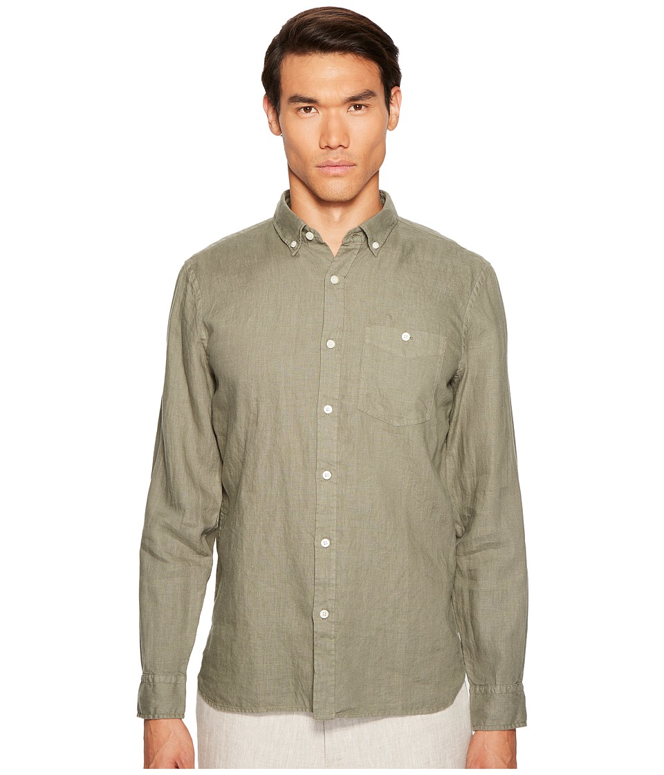 Jack Spade - Long Sleeve Essential Linen PFD (Green) Men's Clothing