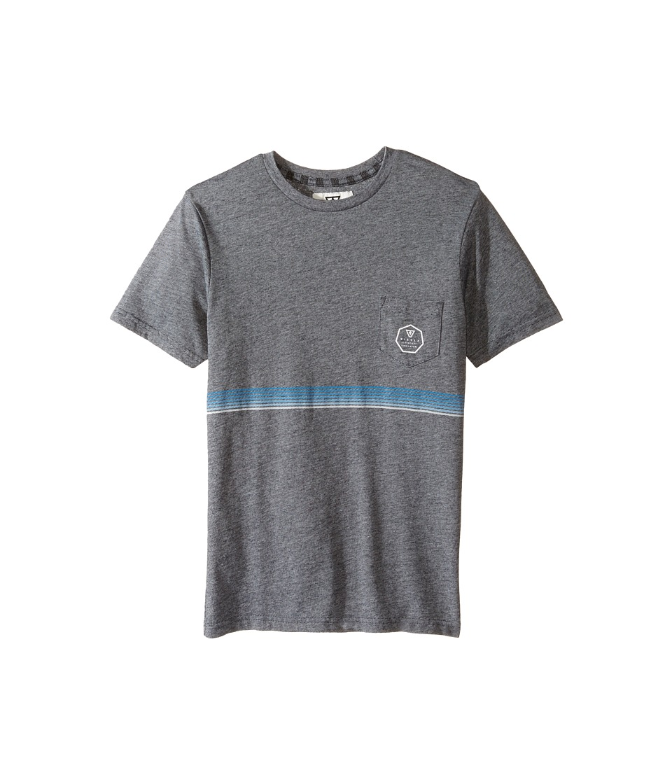 VISSLA Kids - Dredger Short Sleeve Pocket Knit Tee (Big Kids) (Black Heather) Boy's T Shirt