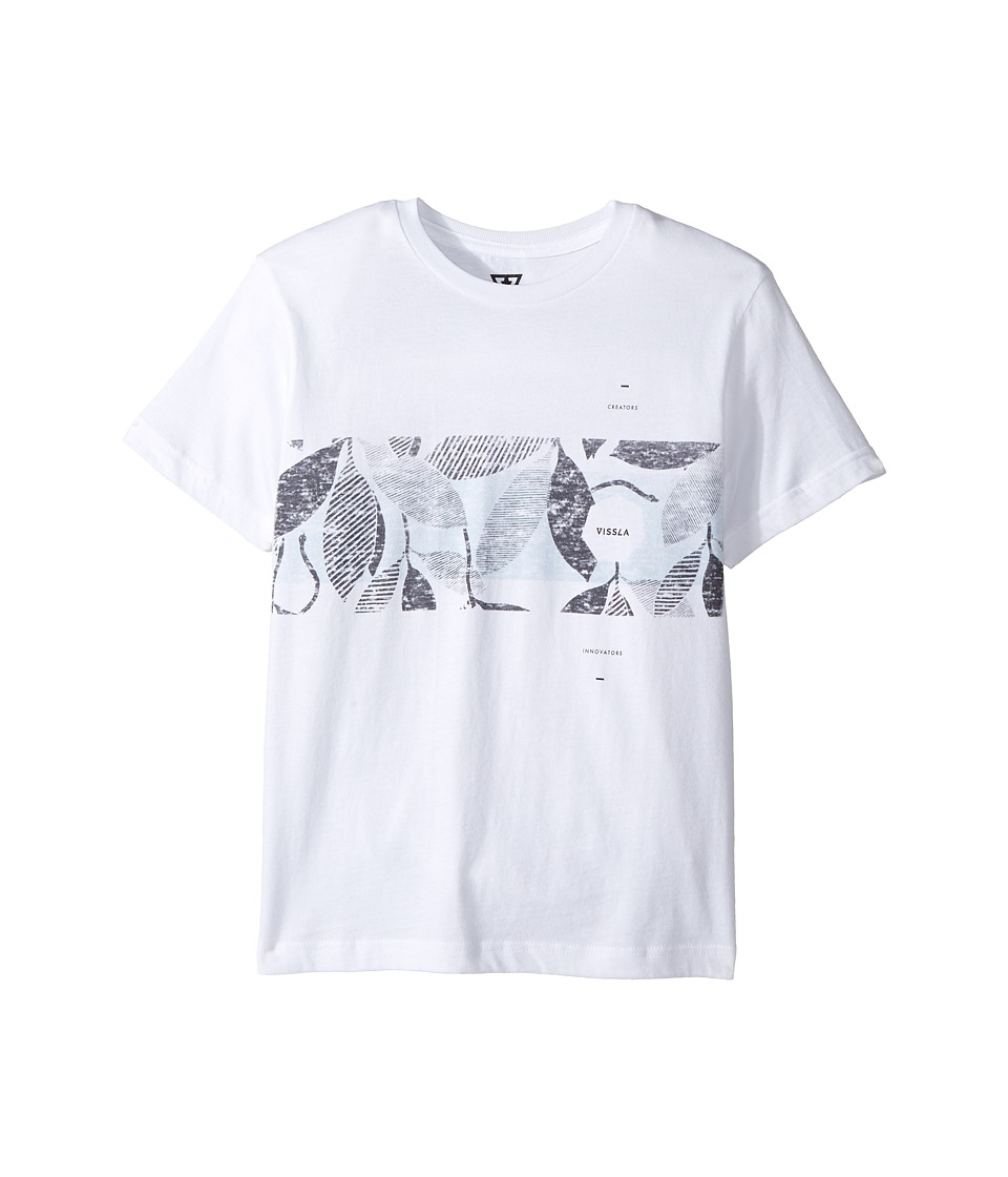 VISSLA Kids - Sea Snake Short Sleeve Tee (Big Kids) (White) Boy's T Shirt