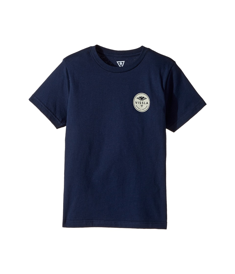 VISSLA Kids - Commando Short Sleeve Tee (Big Kids) (Naval) Boy's T Shirt