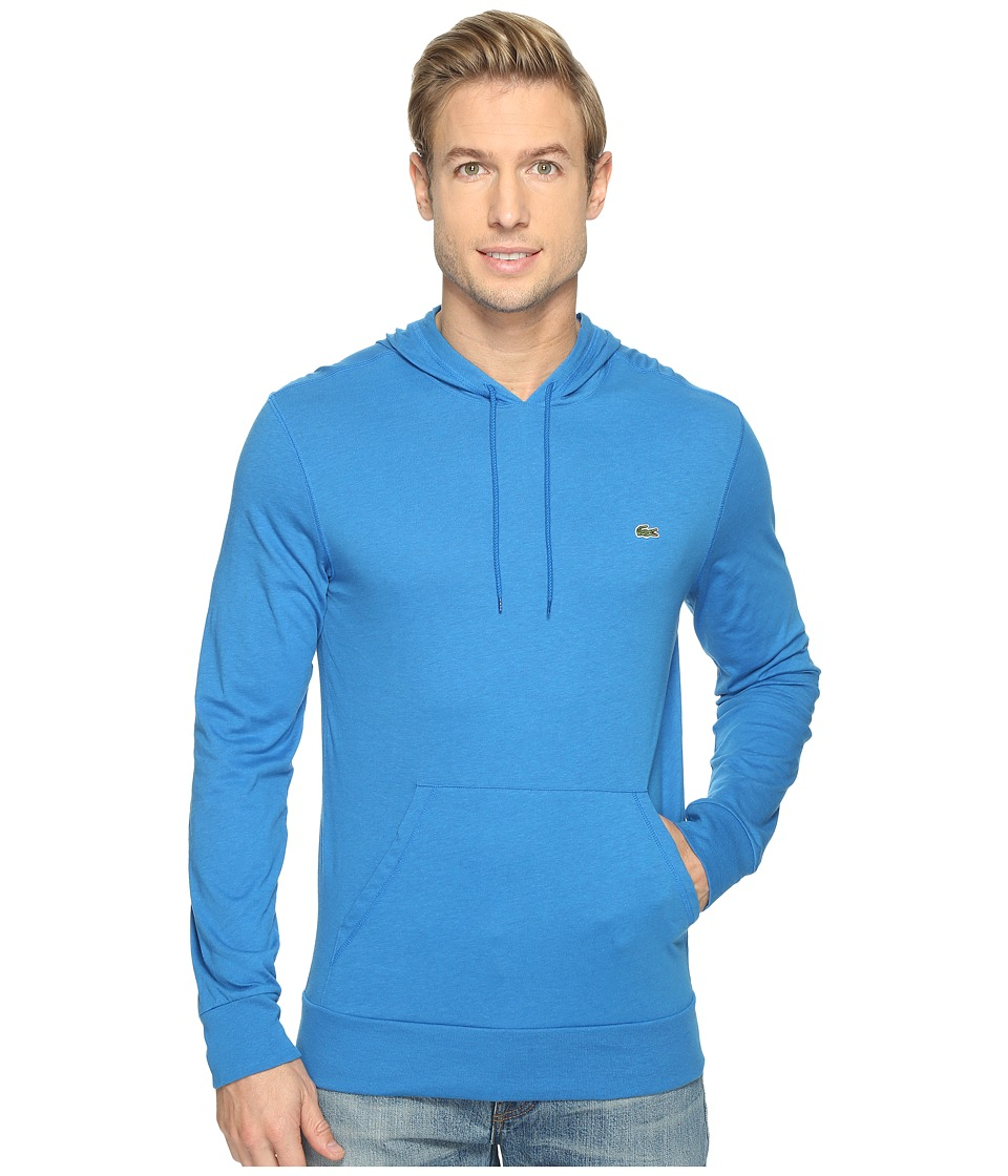 Lacoste - Jersey T-Shirt Hoodie (Sapphire Chine) Men's Sweatshirt
