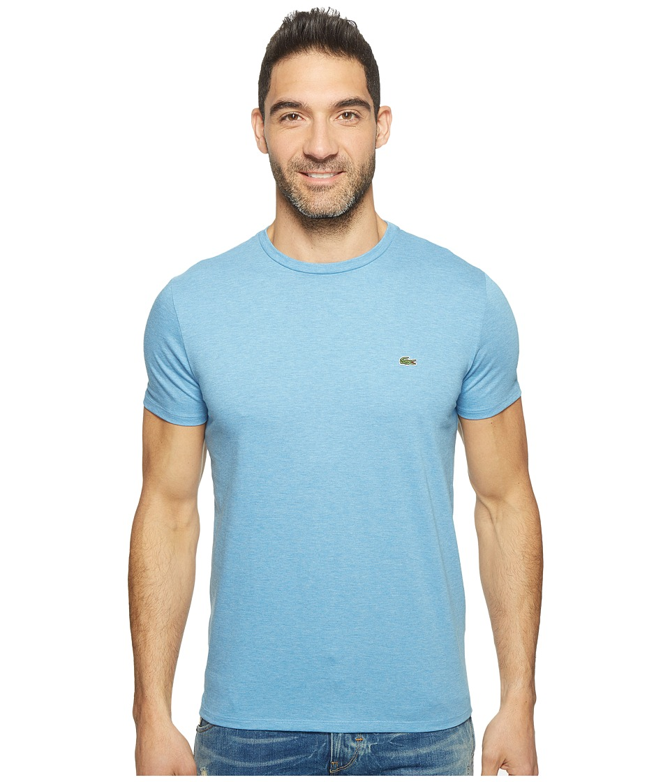 Lacoste - Short Sleeve Pima Crew Neck Tee (Horizon Blue Chine) Men's T Shirt