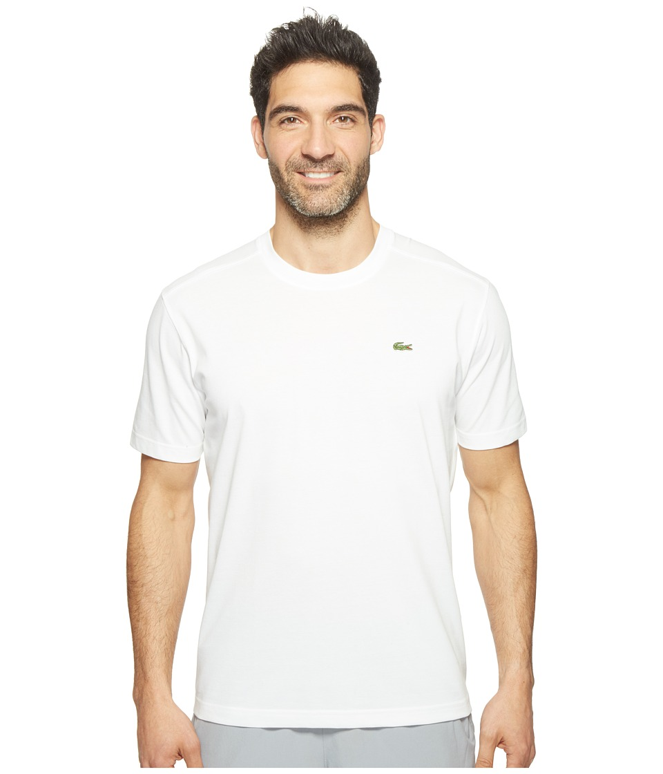 Lacoste - Sport Short Sleeve Technical Jersey Tee Shirt (White) Men's T Shirt