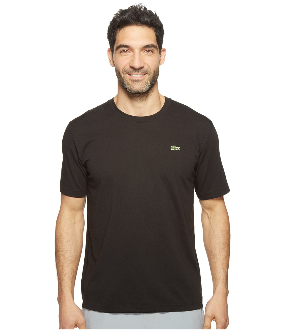 Lacoste - Sport Short Sleeve Technical Jersey Tee Shirt (Black) Men's T Shirt